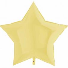 Шар звезда Matte Yellow 91 см