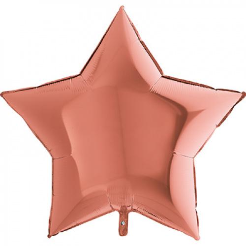 Большая звезда розовое золото