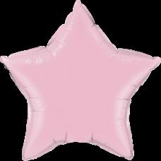 Шар звезда нежно розовая